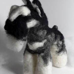 Felted Wool Schnauzer