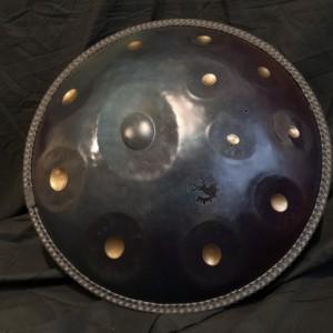 Handpan F# minor12 multitione instrument, Handmade