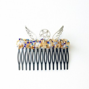 Star and Wing Extra Large Hair Comb
