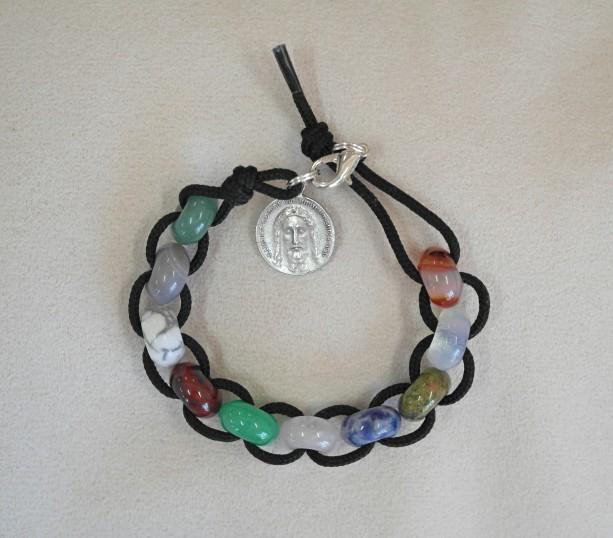 St. Therese Sacrifice Bracelet of Mixed Gemstones