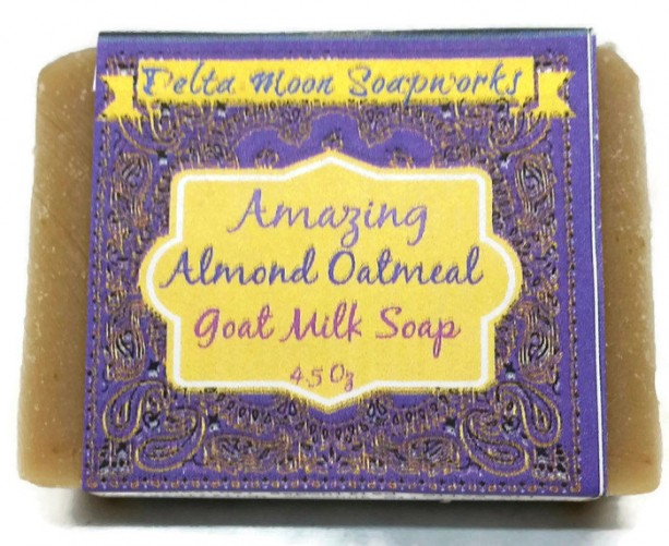 Oatmeal  Goat Milk Soaps, Lavender, Almond, unscented, Red Clover Tea, olive oil soap, soap for sensitive skin,no SLS,  eczema, exfolliating