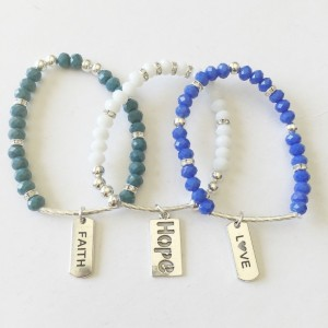 Stackable Bracelets, Mix and Match Bracelets, Mix and Match, Stacking Bracelets, Faith Love Hope Bracelets, Dangle Charm Bracelets