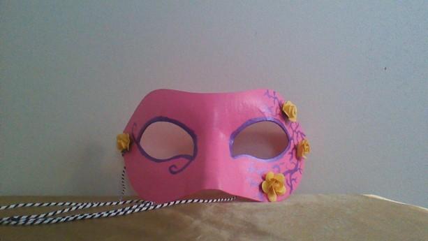 """Yellow Rose"" Cosplay/Masquerade Mask"