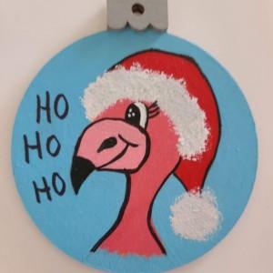 Christmas Face Flamingo