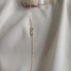 gold infinity bracelet, gold eternity bracelet, 14k gold infinity bracelet, anniversary gift gold bracelet, layer gold bracelet,