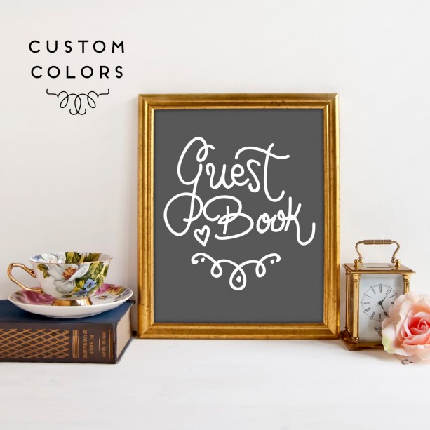 Wedding Guest Book Sign | Sign Our Guest Book | Wedding Sign | Wedding Table | Guest Book Sign | Wedding Art Print