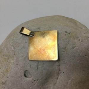 Silver Square Lattice Pendant—Patina