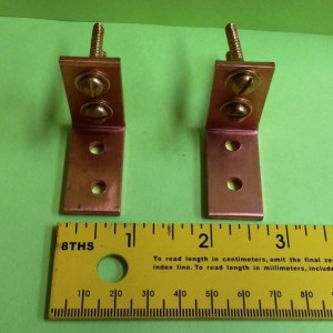 Solid Copper Ceiling Mounting Brackets Set of 2 FREE Shipping to U S Zip codes