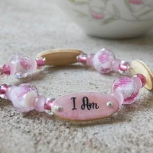 Charlotte Mason Motto Bracelet, Pink