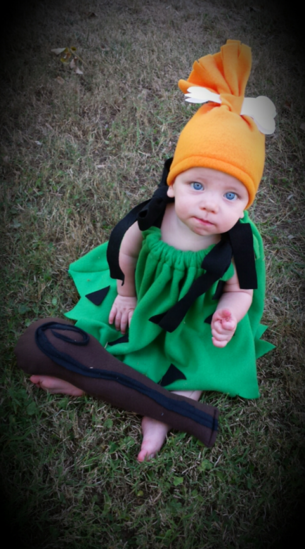 Cave girl costume for baby for Halloween