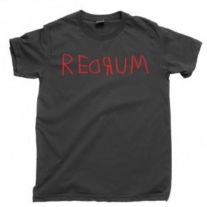 Redrum Men's T Shirt, The Shining Overlook Hotel Stanley Kubrick Stephen King Scary Horror Movie Unisex Cotton Tee Shirt