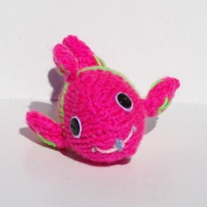Knit Fish, Hand Knitted Fish, Neon Toy, Stuffed Toy, Soft Toy, Nursery Decor, Small Tropical Fish, Knitted Toy, Ready to Ship, Free Shipping