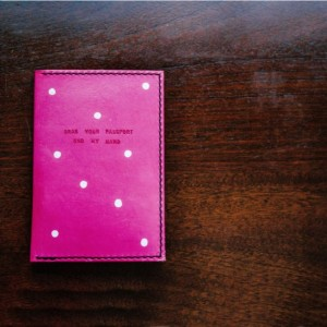 Passport Holder, Custom Leather Passport Cover, Womens Travel Gift, Bridesmaid Gift (Pink Color)