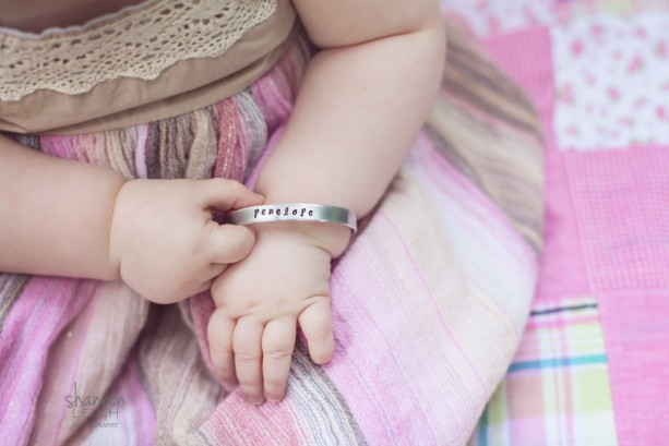 Hand Stamped Personalized Bracelet - Hand Stamped Baby Bracelet - Baby Cuff Bracelet - Personalized Baby Gift - Baby Shower Gift - For Baby
