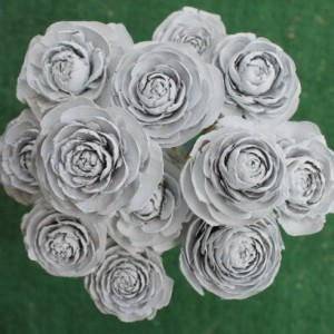 12 Customizable Hand-Painted Cedar Rose Pine Cone Flower Bouquet