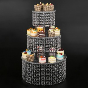 Premium Cake Display Tower Rack - cake stand for Parties Buffet Supplies for a Baby Shower, Birthday Party, Bridal Shower or Wedding 4 Tier