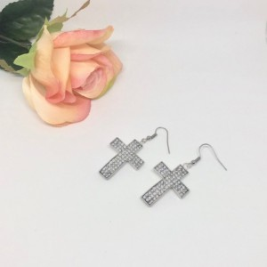 Flashy Cross Earrings