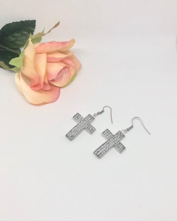 Flashy Cross Earrings