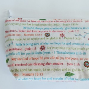 Small Bible Verses Matching Bag, Christian Cosmetic Bag, Religious Bag, Travel Pouch, Zipper Bag, Gift for Anyone, Religious Gift