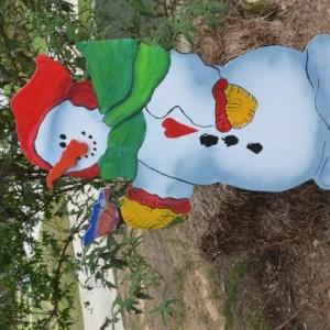 Snowman Yard Art