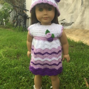 18 inch doll crochet dress