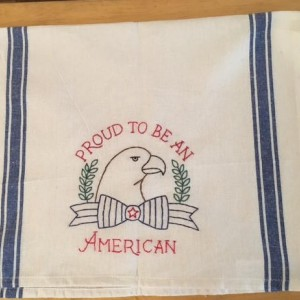 Proud to be an American kitchen hand towel