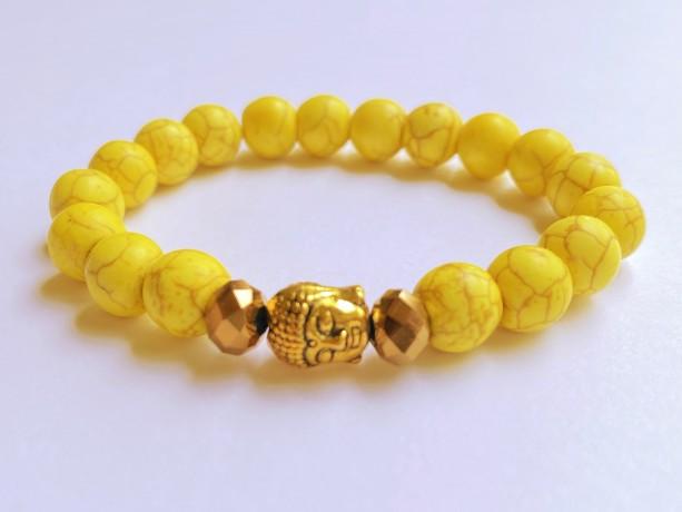 Yellow Buddha Bracelet