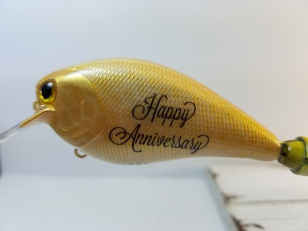Our Anniversary Lure is a great gift for a fisherman, How many years? Just let us know.