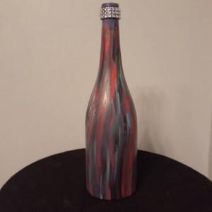 Upcycled/Upcycled Wine Bottle/Wine Bottle/Centerpiece/Wine/Wine Decor/Mantle/Simple and Elegant/Vase