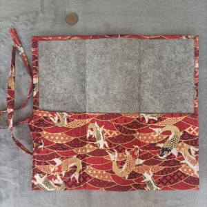 Chinese calligraphy brushes holder - Red carp pattern