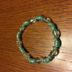 Mint Green Acrylic Bead Elastic Bracelet