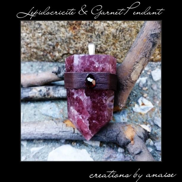 Lepidocricite & Garnet Pendant