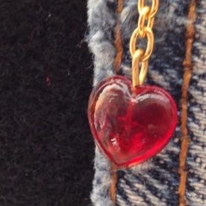Denim Love Dangle Earrings