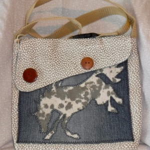 Perfect pony purse, shoulder bag, recycled denim, original design