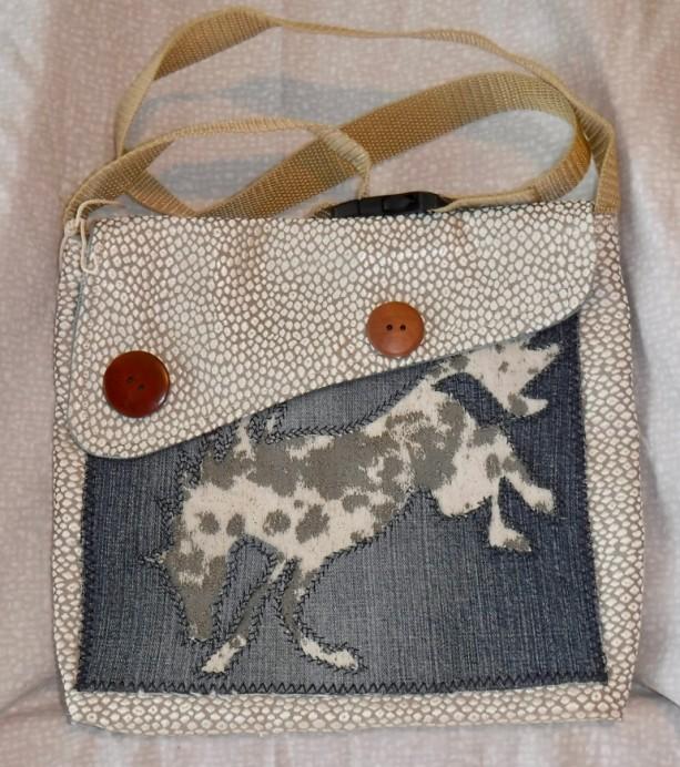 Perfect pony purse, shoulder bag, recycled denim, original design