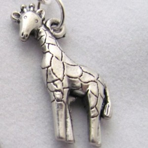 Giraffe Earrings Animal Earrings Pewter Giraffe Jewelry