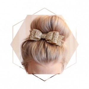 Gold Glitter Hair Bows