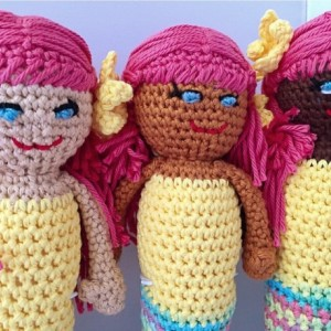 Rag doll  / amigurumi / mermaid dolls / bedtime toy / ethnic
