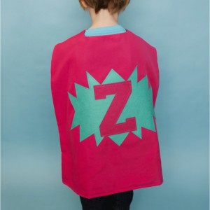 Personalized Superhero Cape! double sided with shape and letter