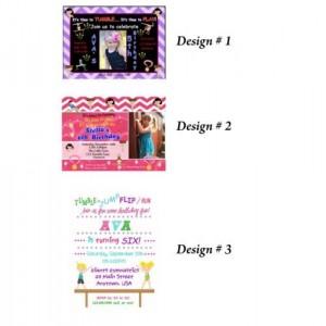 Gymnastic birthday invitation, printable invitation, gymnastic