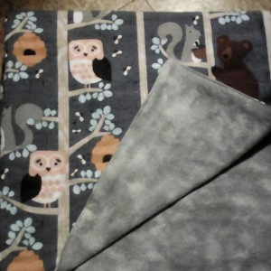 Baby Blanket Woodland Animals Double Sided Flannel