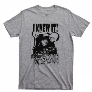 Spaceballs Men's T Shirt, Dark Helmet I Knew It I'm Surrounded By Assholes Mel Brooks John Candy Movies Unisex Cotton Tee Shirt