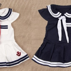 Baby Infant Kid Child Toddler Newborn Boy Girl Navy Marine Grow Dress Pettieskirt Onesie Bodysuit Romper Jumpsuit Coverall Outfit One-Piece Sailor Halloween Christmas Costume Cloth