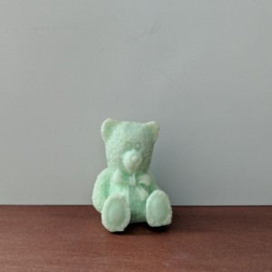 Teddy Bear Decorative Soap  - set of 8 - Green
