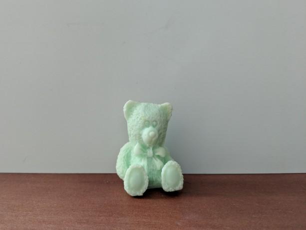 Teddy Bear Decorative Soap  - set of 8 - Green