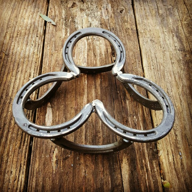 Kitchen Decor, Pot Holder, Trivot, Rustic Horseshoe Pot Holder, Western Kitchen  Decor