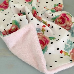Water color floral lovey, security blanket, lovey, blanquet, baby security blanket, baby girl security blanket, cuddle lovey