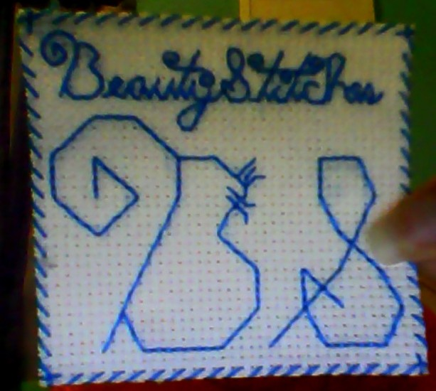 BeautyStitches Coaster Designs: Initials