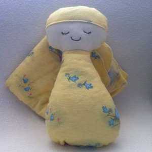 Little Peanut Baby Doll and Matching Receiving Blanket Set