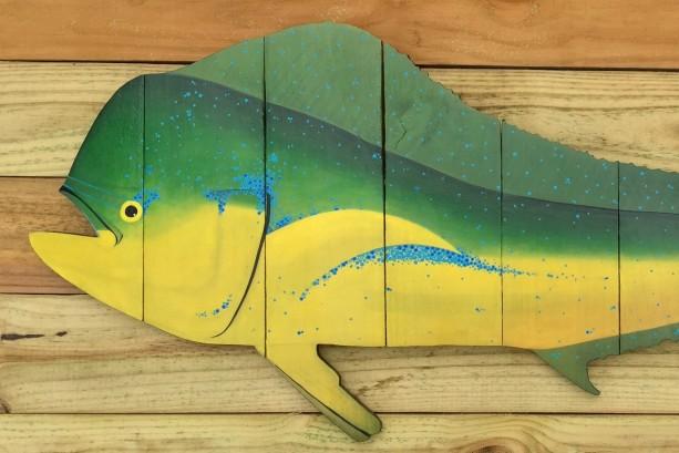 Mahi Mahi Dolphin Fish Dorado Wall Art For Fisherman Husband Boyfriend Dad For Birthday Anniversary Father S Day Or Your Coastal Beach House